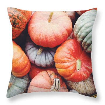 Pumpkins Galore Throw Pillow by Kim Fearheiley