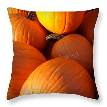 Throw Pillow featuring the photograph Pumpkins by Joseph Skompski