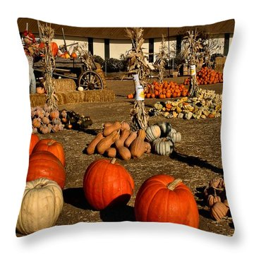Throw Pillow featuring the photograph Pumpkins by Michael Gordon