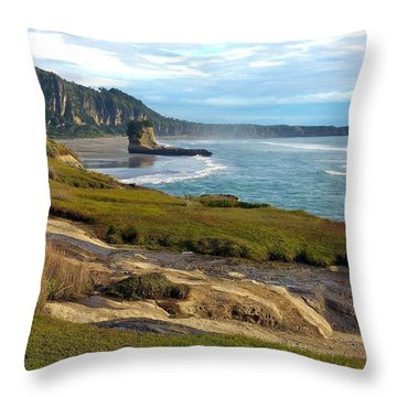 Throw Pillow featuring the photograph Punakaiki Truman Track by Stuart Litoff