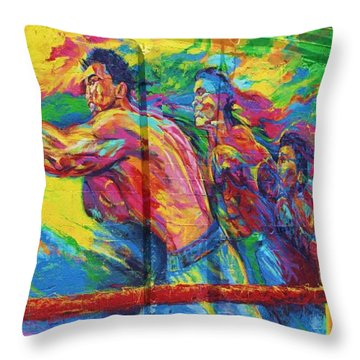 Punch Throw Pillow by Chuck  Hicks
