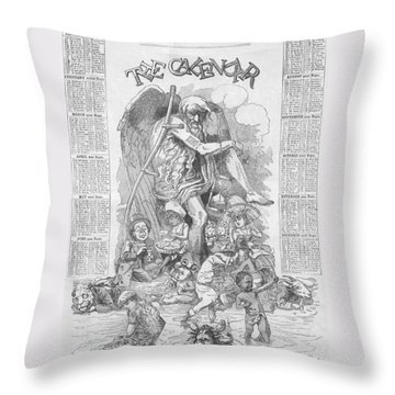 Punch's Almanack For 1885 Throw Pillow