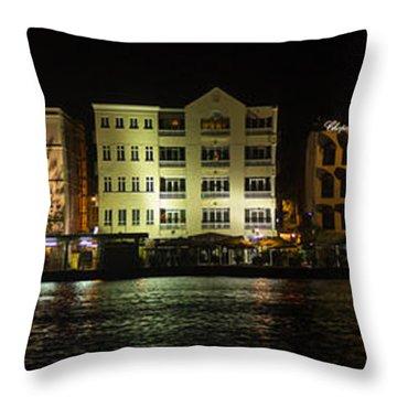 Punda At Night Panoramic Throw Pillow
