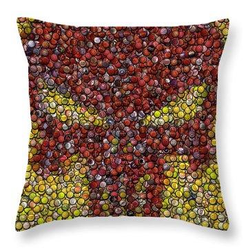 Punisher Bottle Cap Mosaic Throw Pillow by Paul Van Scott