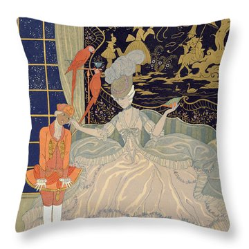 Punishing The Page  Throw Pillow by Georges Barbier