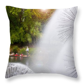 Punting On The Avon Throw Pillow