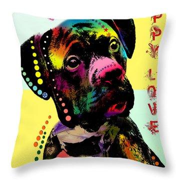 Puppy Love Throw Pillow by Mark Ashkenazi