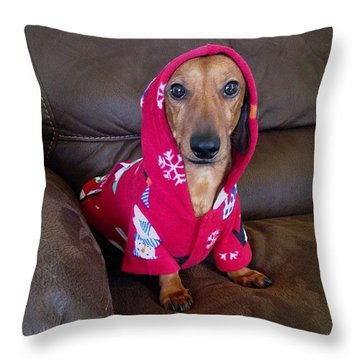 #puppybowl Mini Dachshund  Throw Pillow