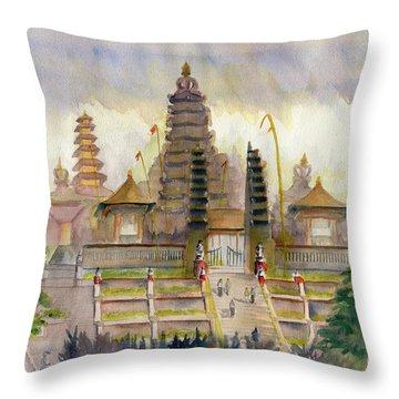 Pura Besakih Bali Throw Pillow