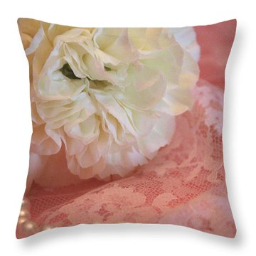Throw Pillow featuring the photograph Pure Beauty by The Art Of Marilyn Ridoutt-Greene