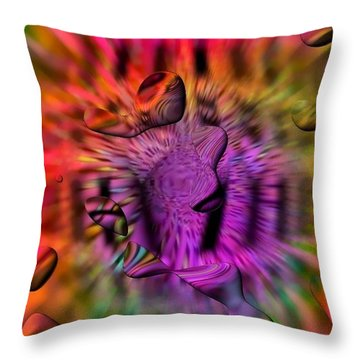 Throw Pillow featuring the digital art Pure By Nico Bielow by Nico Bielow
