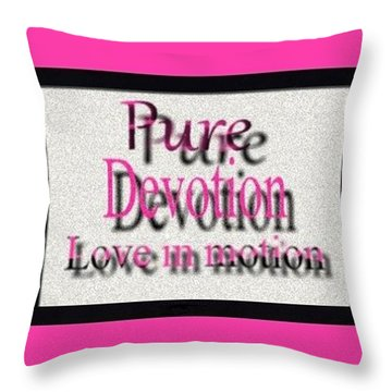 Pure Devotion Throw Pillow by Catherine Lott