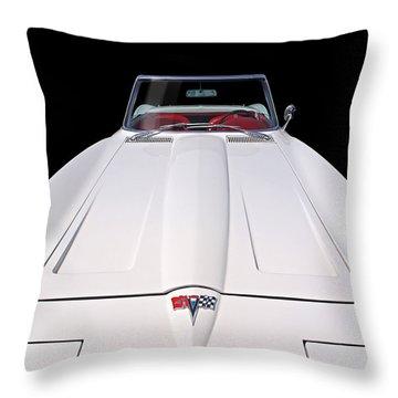 Pure Enjoyment - 1964 Corvette Stingray Throw Pillow