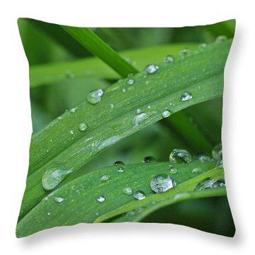 Pure Green Throw Pillow