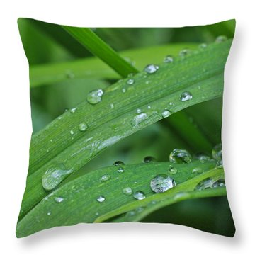 Pure Green Throw Pillow by Julie Andel