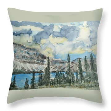 Pure North - Bow Lake Alberta Throw Pillow