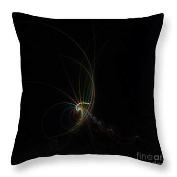 Throw Pillow featuring the digital art Pure Of Soul by Hanza Turgul