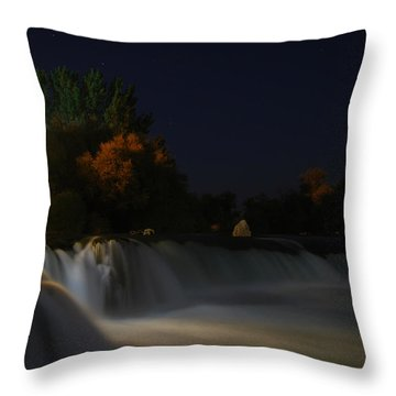 Throw Pillow featuring the photograph Pure Spirits Of The Waterfall by Erhan OZBIYIK