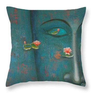 Pure Thoughts Throw Pillow by Mini Arora