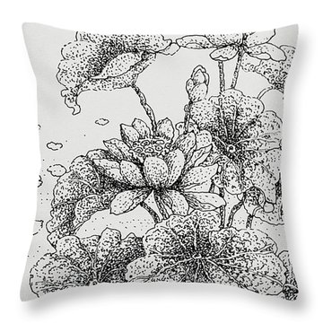 Purity And Beauty Throw Pillow