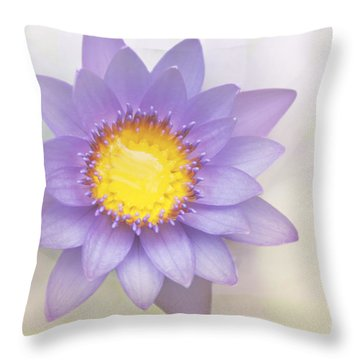 Purity And Grace Throw Pillow by Sharon Mau