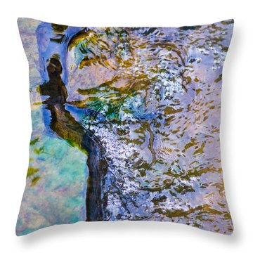 Purl Of A Brook 3 - Featured 3 Throw Pillow by Alexander Senin