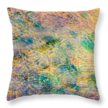 Purl Of A Brook 4 - Featured 3 Throw Pillow by Alexander Senin