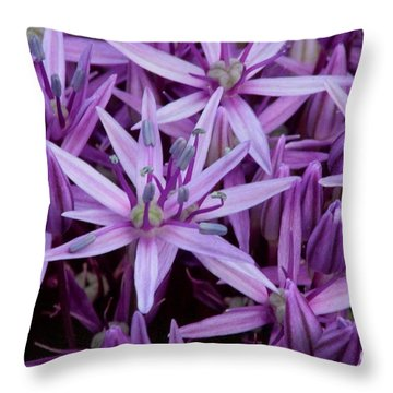 Purple Allium Throw Pillow