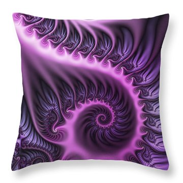 Purple And Friends Throw Pillow