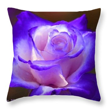 Purple And Pink Rose Throw Pillow by Bruce Nutting