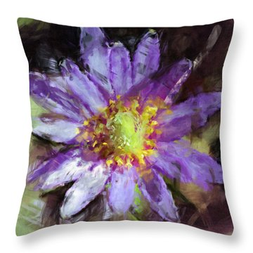Purple Anemone Throw Pillow