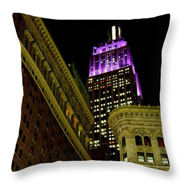 Purple Beacon Throw Pillow