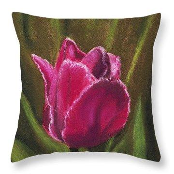 Purple Beauty Throw Pillow by Anastasiya Malakhova