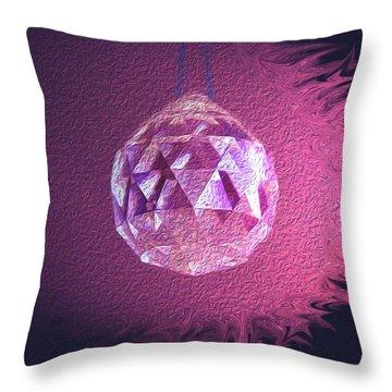 Purple Blaze Throw Pillow