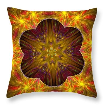 Purple Bliss Kaleidoscope Throw Pillow