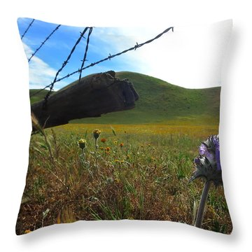 Purple Bloom Throw Pillow by Paul Foutz