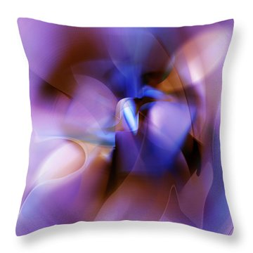 Purple Blossom Abstract Throw Pillow