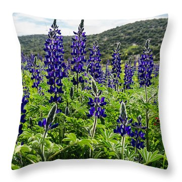 Purple Blossom Throw Pillow