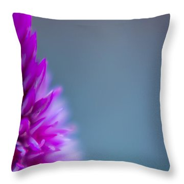 Purple Blur Throw Pillow