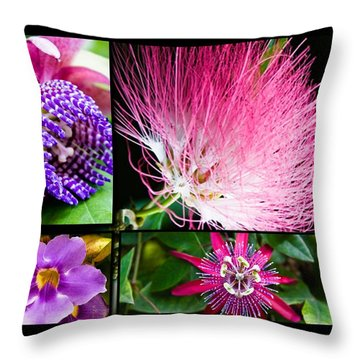 Purple Bouquet Throw Pillow by Melinda Ledsome