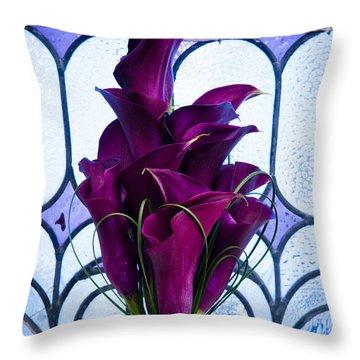 Purple Calla Lilies Throw Pillow