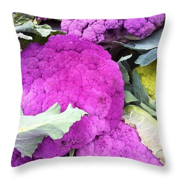 Purple Cauliflower Throw Pillow