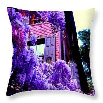 Purple Cheer Throw Pillow by Zafer Gurel