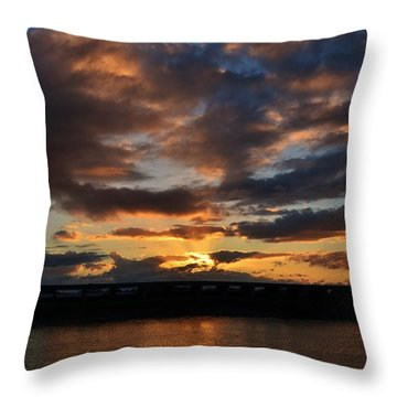 Purple Clouds Sunset  Throw Pillow