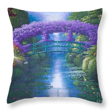 Purple Connection Throw Pillow