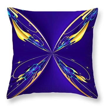 Purple Diamonds Throw Pillow by Liane Wright