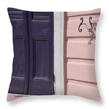 Purple Door Throw Pillow by Valerie Reeves