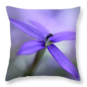 Purple Dreams Throw Pillow by Annie Snel