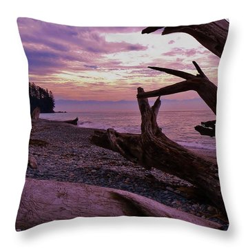 Purple Dreams In Bc Throw Pillow by Barbara St Jean