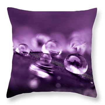 Purple Droplets Throw Pillow